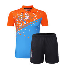 Men Tennis Shirts Sets 2017 New Design Sport Suit Shorts With Jerseys Breathable Quick Dry Badminton Table Tennis Sportswear(China)