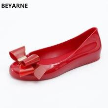 694dd506991 BEYARNE new fashion woman jelly shoes lady flat rain sandals women student  girls summer travel beach sandal closed toe 36-41 red