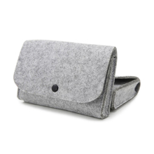 Simple Felt Storage Bag Fashion Gray Color Mini Pouch For Digital Accessories Travel Organizer Electronic Gadgets Organizador