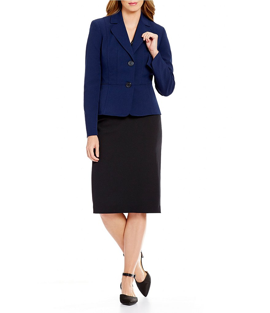 Custom Made Blue 2 Button Women's Skirt Suits Formal Suits Women's Blazer Suits Office Lady Suits 2 Piece Jacket/Skirt