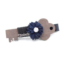 Hair clip floral with key headwear fashion jewelry apparel hair accessories mg0364
