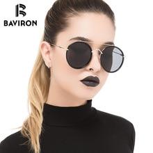 1529d952ae BAVIRON Women Oval Round Sunglasses Retro Classic Polaroid Sun Glasses  UV400 Driving Female Glasses Big Face