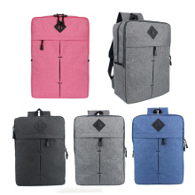 Simple Design Thin Laptop Backpack Travel School Bag Computer Tablet Laptop Storage Shoulder Bag Black/Blue/Pink/Grey