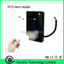 Biometric proximity card reader for access control system N15 waterproof card access control reader optional RFID or IC card