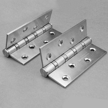 4 inch Furniture Door Hinge Rustproof Stainless Steel Hinge Finish Surface Durable to Use For Cabinet Drawer Door