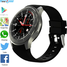 Time Owner DM368 Bluetooth Smart Watch Android 5.1 OS 512 RAM 8G ROM Support SIM Card Google Play/Map Health Tracker Heart Rate