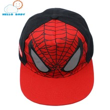 cool high quality soft Children Cartoon Spiderman baby Baseball Caps Snapback Adjustable Children's Sports Hats Fit For 48-53cm(China)