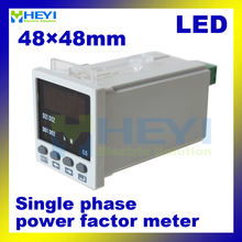 48*48mm Single phase COS meters LED display digital power factor meters(China)
