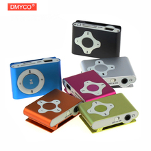 DMYCO Portable Mini Sport MP3 Player clip cross button metal housing ideal for active music lovers movement media music player