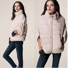 2017 New Winter Jacket Women Down Cotton Jacket Parkas ladies Bat Sleeve cloak Coat manteau femme Parka Winter Coat Women J021
