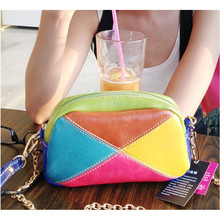 BARHEE Summer Women's bag Leather Handbag Ladies Small Crossbody Bags Patchwork Bolsas Female Women Hand Bags Chains sac a main