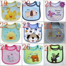 Free shipping 5pcs/pack cotton Baby boys girls bibs Infant embroidered saliva towels Baby Waterproof bib wear(China)