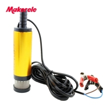 Mini Diameter 38MM 12V/24V Mini Electric Oil Pump Portable Fuel Water Pump Aluminium Alloy Belt Filter Net