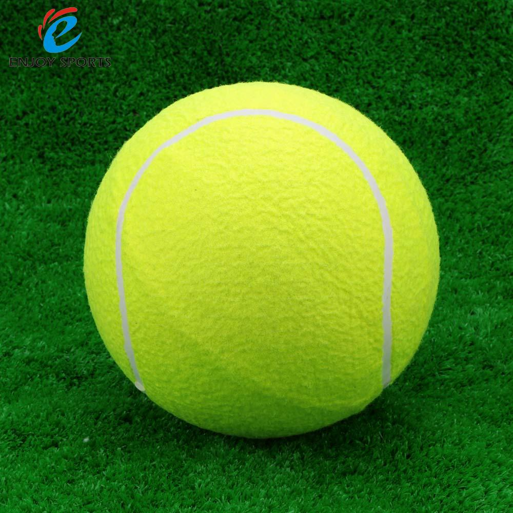 9.5inch Tennis Balls Durable Elastic Rubber Trainning Exercise High Resilience Adult Pet Fun Tennis Ball(China)