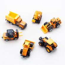 4Pcs/Set Random Sent Mini Car Toys Excavator Tractor Crane Diecasts Big Truck Vehicles Models Classic Cars Children Kids Toys