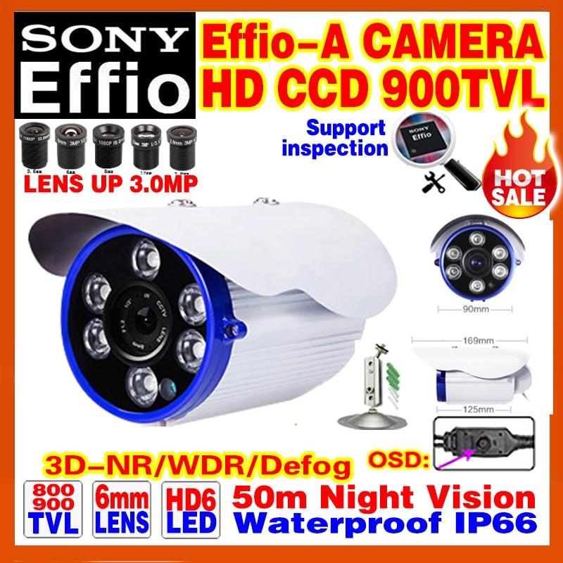 Discount 1/3Sony CCD 800/900TVL Effio-A Surveillance Cctv Hd Cameras OSD Meun WDR Waterproof IP66 Array Night Vision 50m Video<br><br>Aliexpress