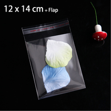 "100pcs 12 x 14cm Transparent Food Packaging Bags 4.72"" x 5.51"" Crystal Clear Self Adhesive Plastic Bag"