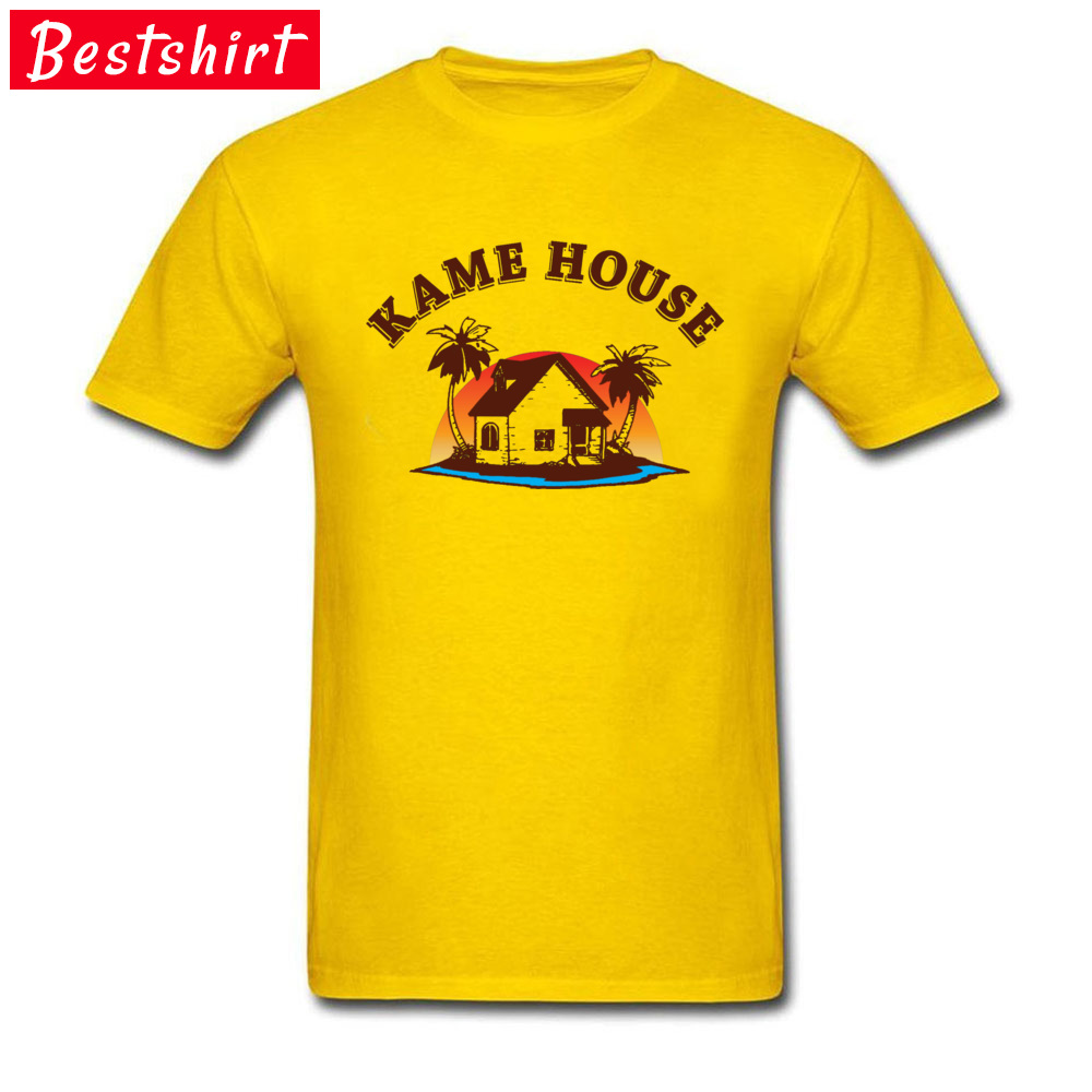 Graphic Men's T Shirt Crew Neck Short Sleeve 100% Cotton Kame House 5781 Tops Shirt Design Top T-shirts Drop Shipping Kame House 5781 yellow