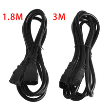 IEC 320 3-Pin C14 Male To C13 Female Main Power Extension Cord Lead Cable 1.8/3M