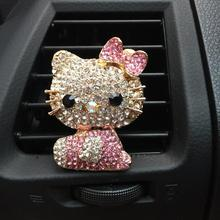 A Perfume New Personalized Fashion Kity Cat Outlet Clip Diamond Free Shipping Supplies Automotive Interiors Car Styling Perfumes