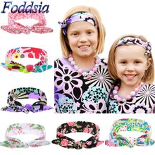 Foddsia 6pcs/lot Girls Bow Headband Rabbit Ear Ball Music Love Turban Knot Hairband Kids Head Wrap Hair Band Accessories B54(China)