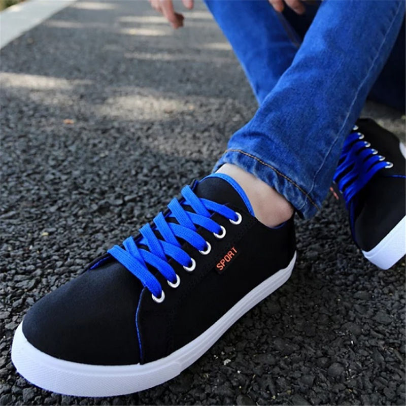 New Men Outdoor Casual Walking shoes light Fashion Flat bottom canvas shoes Non-slip chaussure homme sapato masculino black blue<br><br>Aliexpress