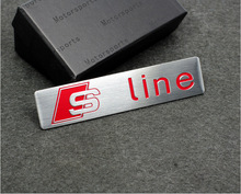 2017 3D S Line Sline Car Front Grille Emblem Badge Stickers Accessories Styling For Audi A1 A3 A4 B6 B8 B5 B7 A5 A6 C5 C6 A7 TT