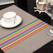 2pcs Dining Table Decorating Mat Colorful Tablewere Mat Kitchen Placemat Pads for Home Table Decoration Accessories