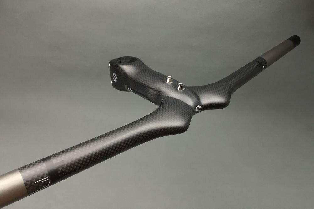 Carbon Fiber Bicycle Handlebar Set MTB Bicycle Handlebar and Stem / Mountain Bike Integrated Handlebar Bicycle Accessories<br>