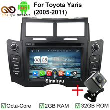Octa Core Android 6.0 Car DVD PC Player Fit Toyota Yaris 2005-2011 Bluetooth Radio TV 4G WiFi GPS Navigation