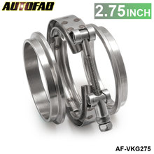 "AUTOFAB - 2.75"" V-Band Clamp & Flange Stainless Steel V Band AF-VKG275"