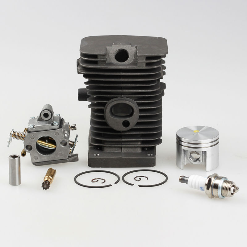 Cylinder Piston Pin Kits +Carburetor Zama +Oil Pump + Spark plug Fits STIHL MS180 018 Chainsaw 38mm <br>