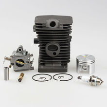 Cylinder Piston Pin Kits +Carburetor Zama +Oil Pump + Spark plug Fits STIHL MS180 018 Chainsaw 38mm(China)