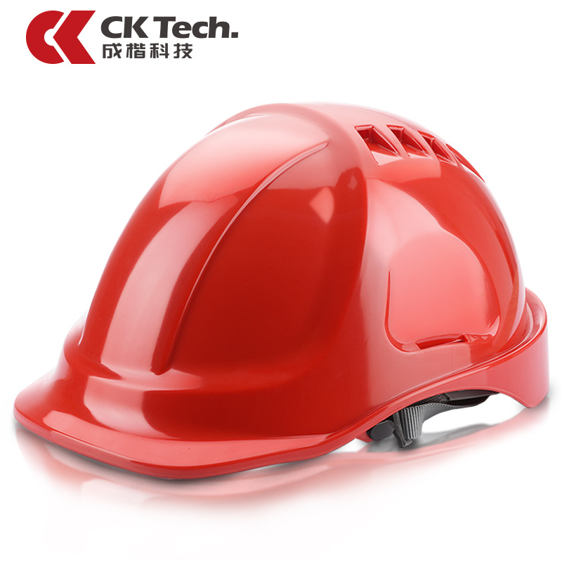 CK Tech Brand Building Construction Safety Helmet Chin Strap Hard Hat Impact Work Ventilate Cap Extra Strong Safety Helmet NTC-4<br>