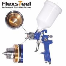 Gravity Type HVLP Paint Spray Gun with Air Rugulator Nozzle Size 1.4mm ,Cup Volumn 600CC Operation Pressure 50-70PSI