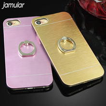 Buy JAMULAR Aluminum Metal Brush Hard Ring Holder Stand Cover Case iphone 8 7 Plus 6 6s Plus Case Back Cover Fundas Coque for $2.79 in AliExpress store