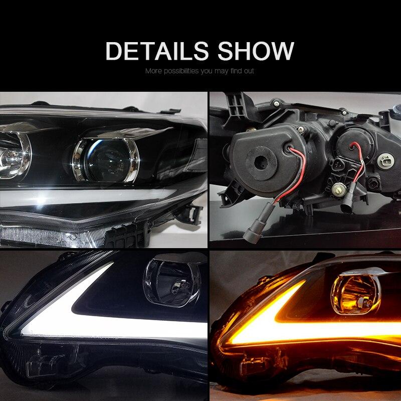 CNSUNNYLIGHT For Toyota Corolla 2011 2012 2013 Car Headlights Assembly With LED DRL Turn Signal Lights Plug & Play Head Lights (2)