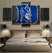 5 Panel Duke Blue Devils Sports Team Logo Modern Home Wall Decor Canvas Picture Art HD Print Painting On Canvas For Living Room