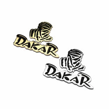 GR-EB2 High Quality 100% metal New car accessories 1kit car emblem sticker logo decal fit for DAKAR