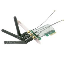 Mini PCI-E Express to PCI-E Wireless Adapter w/ 3 Antenna WiFi for PC