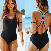 Buy bikini 2019 One Piece Push-Up Padded Bathing Backless sexy bikini set swimwear women one piece swimsuit plus size bikinis #30