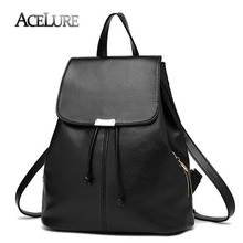 ACELURE Women Backpacks PU Leather Bag Students School Bags for Teenage Girls High Quality Ladies Shoulder Bags Stylish Backpack
