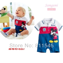 Blue Cute Cartoon Infantil Overalls for Boys Romper Neonate Body Baby Jumper Summer 2016 Newborn Kids Clothes Wear Bebe Clothing