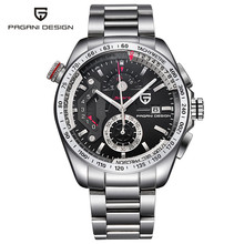 PAGANI DESIGN High Quality Sport Men Wristwatch Quartz Chronograph Date Stainless Steel Watchband Military Army Watches Gift