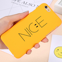 KISSCASE Phone Cases For iPhone 7 6 6s Case Plastic Cover For iPhone 6 6s 7 Plus Case Plastic Ultra Thin Smile Nice Case