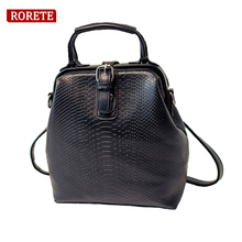 Design Women Backpack Crocodile leather multi-functional shoulder bag Transformer Alligator shoulder cross body bags best gift