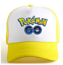 2017 yellow blue red pokemon go baseball hat mobile game net hat game fans hat cap CA292-5