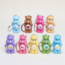 9Pcs/set 4.5cm Anime Care Bears Action Figure teddy bear toys Kids Toys(China)