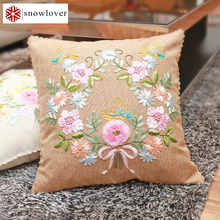Butterfly Peony Flowers DIY Ribbon Embroidery kit Sewing Tool Kit Cushion Covers Pillowcase Home Gift Unfinished Free Shipping