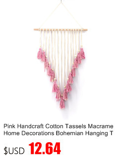 Small Handmade Macrame Wall Art Cotton Thread Wall Hanging Tapestry Bohemian Rope Pots Holder Hemp Rope Net Wall Decorations 10